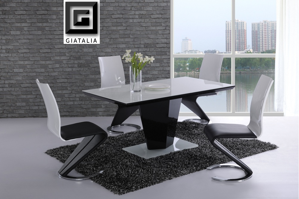 Magnificent Black and White Dining Table Sets 1001 x 667 · 239 kB · jpeg